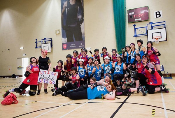 Nottingham Hellfire Harlots (A) with Seaside Sirens © Martyn Boston