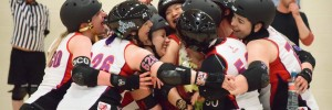 Nottingham Hellfire Harlots celebrate win
