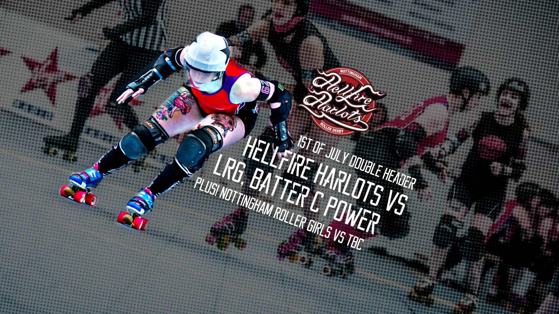 Hellfire Harlots vs London Roller Girls Batter C Power
